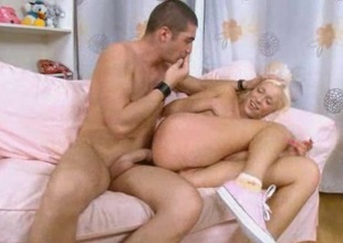 Rough anal mating with blond whore