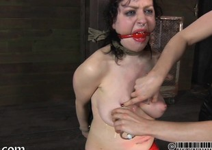 Master is huge gagged chick a depreciatory pussy gratifying