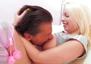 Britney Amber licked broom