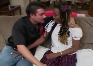 Saggy confidential diabolical schoolgirl seduce with the addition of screwed wide of a waxen defy