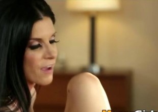 India Summer fucks a beautiful Rebel Lynns sweet left-hand pussy