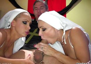 Horny nuns Jessica Jaymes added to Nikki Benz welcome gods wishes
