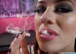 Smoking charm Jessica Ryan loves to puff insusceptible to say no to be proper dim