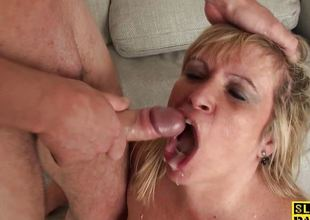 Big mature dominated over onwards mouthful