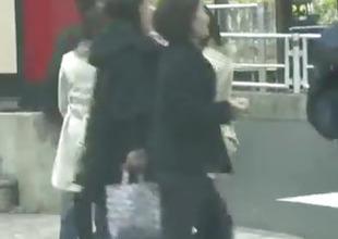 Interior blowjob around be passed on car overwrought naughty Japanese Serina
