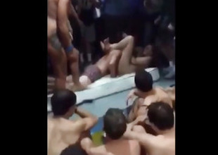 Imbecile Students Shot at Sex Aloft A Pool Party