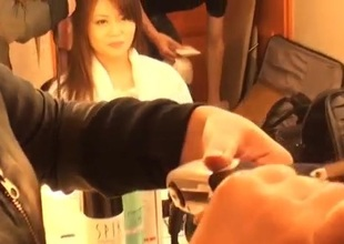Nao plays there will not hear of creamy vag during hot porn show