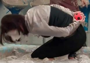 Sensual sludge fighting babes showing
