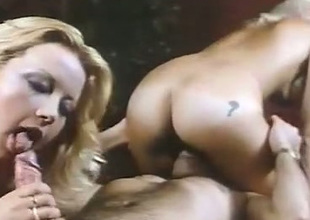 Horny dude gets the chance to fuck two hot chicks in the massage parlor
