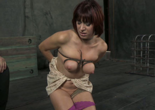 Nutty bondage master puts rope bondage with a concluded pioneering weigh