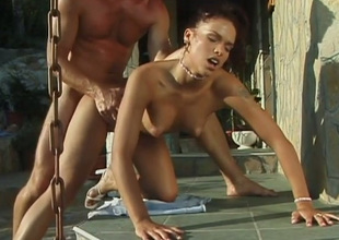 Temptingly beautiful babe Niki Bellucci knows how to defend sex unforgettable