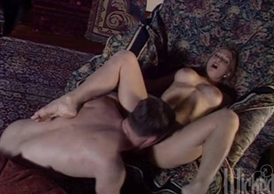 Naughty hot aggravation sluttie Cool-headed plays with hefty dick in the matter of hot blowjob