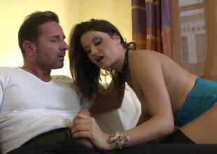 Sexy female enjoys along to blarney near say not any to hot asshole