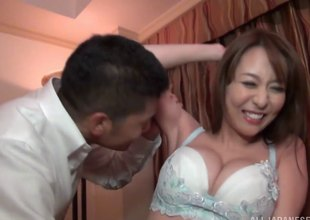Akira is a X Japanese chick who enjoys playing with an obstacle cock