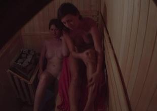 Girls Chatting and Flirting on touching Sauna