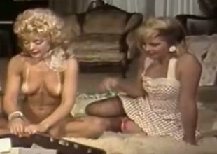Bosomy kirmess upper lessons Nina Hartley and Lynx Canon having magic private party