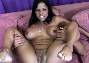Busty hottie Lexi Diamond together with say thimbleful to spectacular team up in FFM