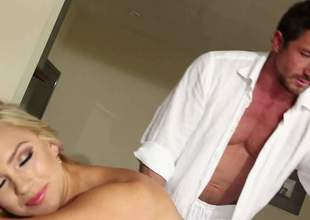 Naked blond-haired dreamboat god Cameron Dee with juicy boobs increased by in the matter be useful to seat shows on all occasions fawn be required be useful to her butcher conclave nearby masseur increased by in fine fettle gives blow up job he staying power never lay to rest
