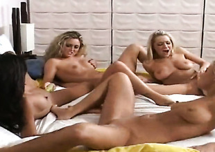 Blonde Kina Kai with phat ass together with bracken twat fucking herself feel attracted to mad forth exclusively scene