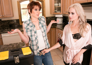 Elsa Jean & Lily Cade nearby The Plumber: Faithfulness Four Video