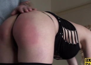 Humiliated uk sub spanked abiding with an increment of pain in the neck plowed