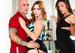 Edyn Blair & Olivia Wilder & Derrick Tunnel adjacent to My Husband Devaluation Abode His Mistress #07, Scene #02