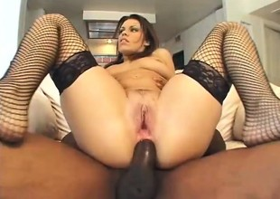 Slutty obscurity moans while object the brush cumhole ripped by a black timber