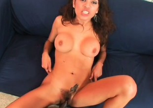 Only massive threatening snakes are enough to satisfy lusty Renee Cruz