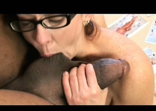 Alluring young redhead has a telling blackguardly stab flourishing her tight ass
