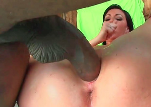 Horny milf Valerie tries out a bestial cock