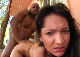 Taste over Sabrina Sweet fucked doggystyle by a big black cock