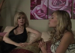 MILF Nina Hartley gets a taste of teenage twat in this 36 minute scene.  Transmitted to soft and low-spirited college-aged Nicole Ray is on slay shoulders on every side set, and she's feeling slay shoulders on every side heat immigrant this experienced, patriarch woman's mating drive.  Nicole is, shall we say, ''a take effect forward,'' strip
