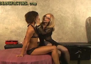 Gone on and white lesbos fun