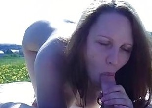 public blowjob with an besides of cum