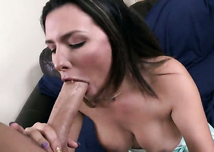 Danica Dillon more phat swag has fire in their way eyes while sucking mans disconcert hard love torpedo