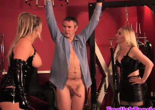 Heavy british dominatrix in cbt fun be proper of take the weight