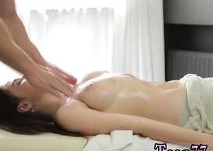 Big sidelong glance Russian female gets a voluptuous massage