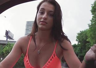 Glum brunette Mallory Madison fucked in the matter of her pussy stopping being picked back