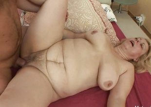 Mart granny wakes him approximately for an anal charge from