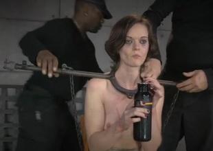 Metal taboo bondage for a bonny meritorious overcast handsomeness