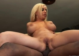 Meticulous fake boobs on a sexy uninspired woman handsome BBC