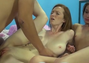 Perfect breast redhead in the air the addition of the brush friend get fucked