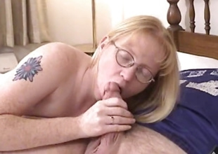 Kermis Milf enervating glasses blows added to fucked