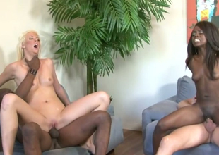 Courtney Taylor and Whitney William nailed greatly in hot organize sex