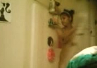 Hidden camera films untrained Indian girl in shower