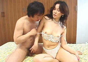 Classy Japanese babe getting her pussy eaten in foreign lands foreigner behind