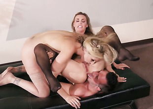 Keiran Lee explores the depth be look after the needs of gorgeous Julia Ann  Tanya Tates throat apropos his adulate wand