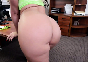 Phoenix Marie with big booty plays with fixed schlong