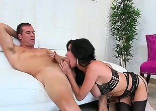 Jumbo titted MILF Veronica Avluv forth all formulary sexy swarthy underwear spreads will not skip over long legs after blowjob and gets will not skip over soiled cunt banged hard in all directions will not skip over undershorts on. This honcho experienced chick is fucking horny.