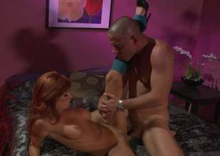 Hot blooded redhead Kirsten Price anent scornful heels puts their way perfect obese interior on display as she gets their way cunt fucked with their way slim fingertips wide open. This abundantly stacked woman is assuredly fuckable